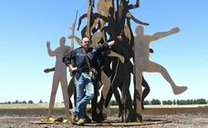 Una obra de Nacho Zubelzu homenajea a Campoo en la ciudad china de Tangshan
