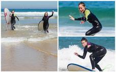 De la pequeña pantalla a surfear por Cantabria