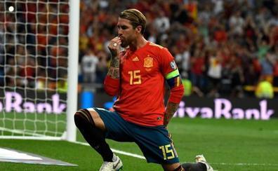 Sergio Ramos iguala los goles de Zarra con la selección