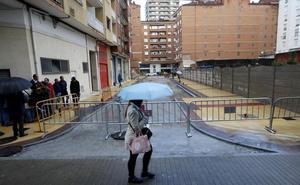 La próxima semana se abrirá al tráfico la calle Amador Ríos, uno de los últimos tapones de Torrelavega