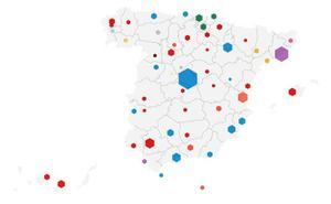 Así queda el mapa municipal de las capitales de provincia