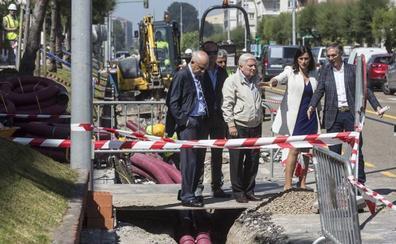 El tramo final de la avenida de Los Castros estrenará imagen y rotonda a finales de año