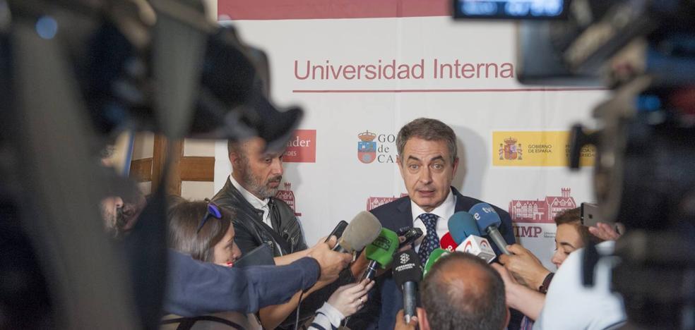Zapatero, en Santander: «Un gobierno de cooperación me suena bien»