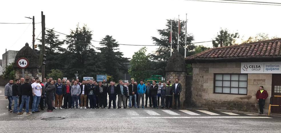 La huelga paraliza la producción en la antigua Trefilerías Quijano, según el comité