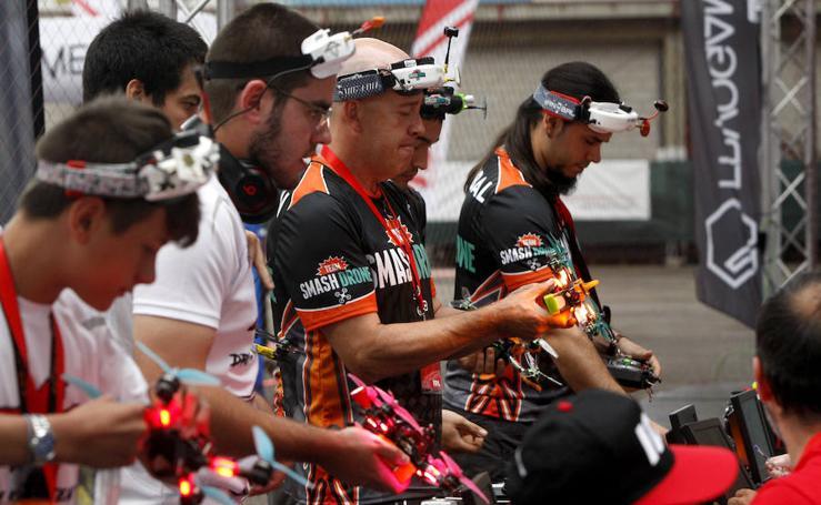 Liga de drones en Torrelavega