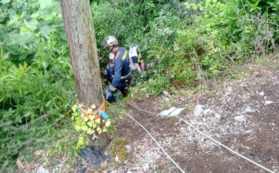 Herido grave un motorista tras una caída en el Desfiladero de la Hermida