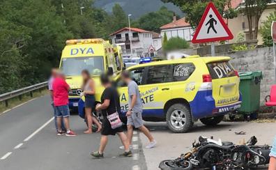 Un motorista de 32 años resulta herido grave tras chocar contra un coche en Guriezo