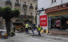 Reinosa renueva el saneamiento de la avenida del Puente de Carlos III