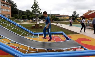 Inaugurada la ampliación del parque de Ganzo, un espacio de ocio «intergeneracional»