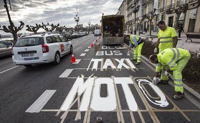 El Ayuntamiento no tiene una fecha para la retirada del carril-bus y lo consultará con los afectados