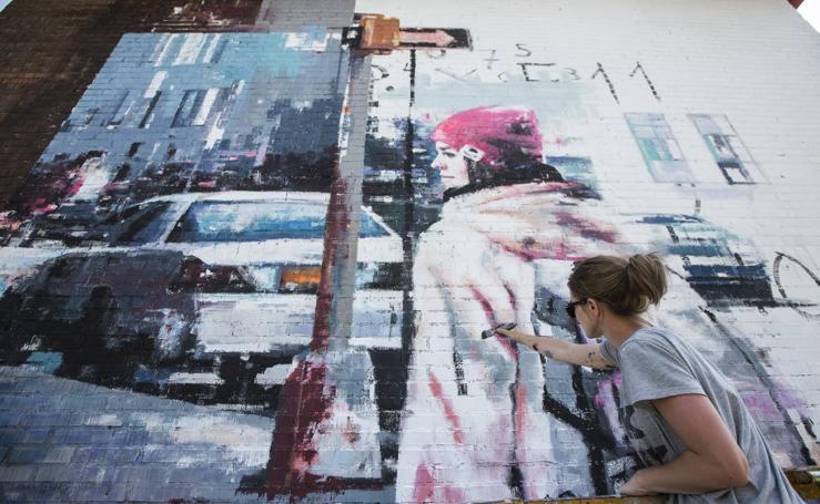 El arte urbano empieza a desvelar su nuevo Santander