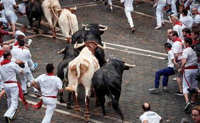 Tres heridos por asta de toro para comenzar los Sanfermines