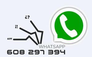 Envíanos tus fotos, vídeos y noticias a través de WhatsApp