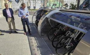 La Plaza de las Estaciones tendrá desde el martes un aparcamiento cerrado para bicis