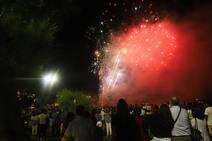 Así se vieron los fuegos artificiales en El Sardinero