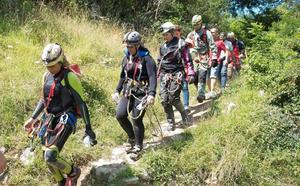 Las espeleólogas rescatadas en Arredondo creen que «ha sido una aventura maravillosa»