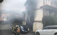 Arde el garaje de una vivienda en Ampuero