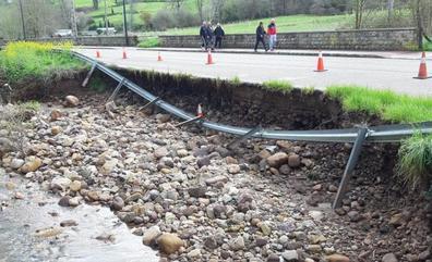 Obras Públicas reparará el desprendimiento de la única carretera de acceso a Coo
