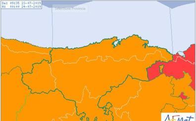 Cantabria, en alerta naranja por tormentas y Ramales alcanza los 39,6 grados