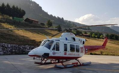 Evacuado en helicóptero un turista holandés tras sufrir un ictus en un camping de Turieno