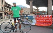 Borja Ortiz consigue el reto de coronar en bicicleta 30 puertos de montaña de Cantabria