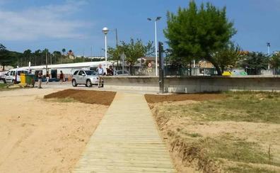 Obras de acondicionamiento en La Riberuca de Suances