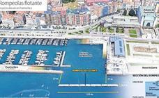 El Puerto aprueba que el Marítimo instale un rompeolas en la bocana de Puertochico