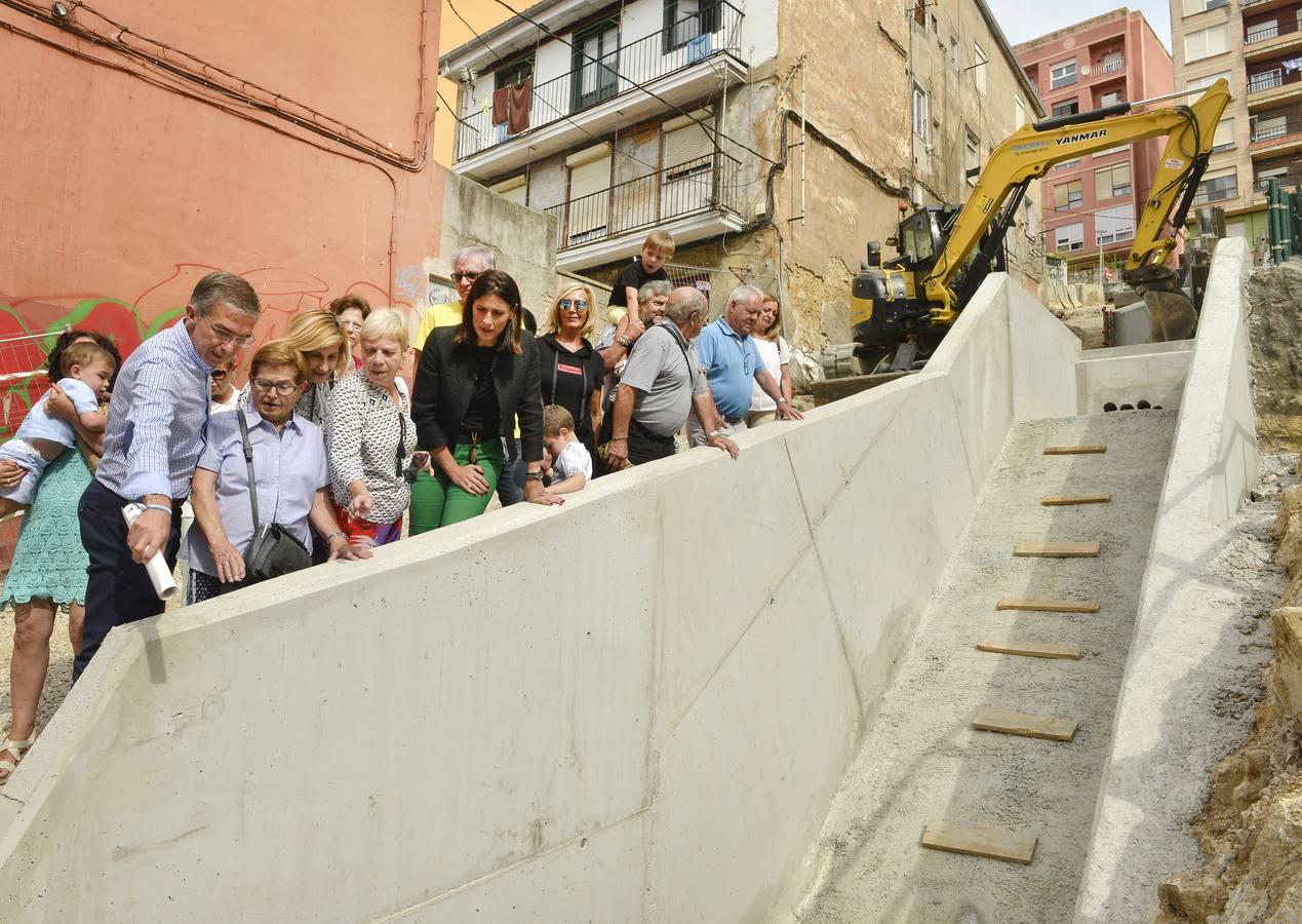 Las escaleras mecánicas de Enrique Gran entrarán en servicio en febrero