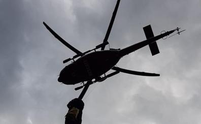 Un senderista barcelonés es evacuado en helicóptero al romperse una pierna en Urdón