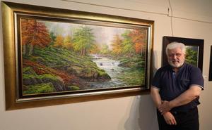 El pintor Joan Coloma expone su obra en Potes