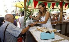 La Feria del Hojaldre endulza las fiestas de La Patrona