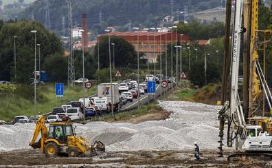 La obra del nudo de Torrelavega sólo ha avanzado un 5% desde su inicio hace un año
