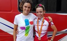 La corredora cántabra Alba Leonardo se cuelga el bronce en el Nacional junior
