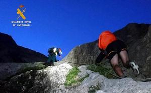 Los Greim rescatan a un montañero francés que se había quedado enriscado en la Canal del Vidrio