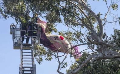 El parapente que aterrizó en Mataleñas «volaba sin permiso»