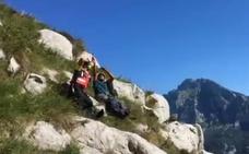 Rescatado un escalador vasco con posible fractura de tobillo en Cillorigo de Liébana