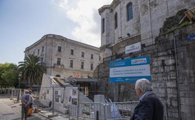 El nuevo acceso a la catedral se retrasa y no estará acabado hasta noviembre