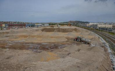 Las obras del parque comercial de Maliaño avanzan cumpliendo los plazos