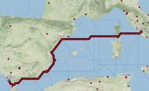 El 'Google Maps' de la Antigua Roma: 16 días de Cádiz a Toledo