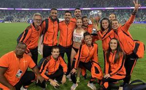 La velocista Lara Gómez se estrena con la selección Europea en 'The Match'