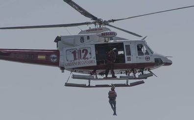 Los servicios de rescate de Cantabria exhiben músculo en Santander