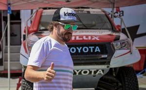 El accidentado debut de Alonso en los raids