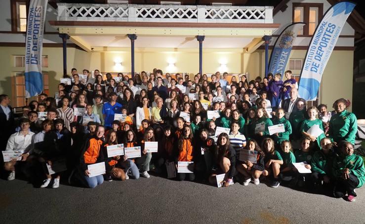 Los premiados en la Gala del Deporte Base de Santander