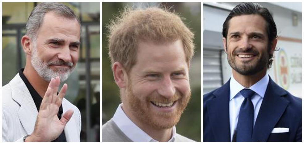 La barba se impone entre los príncipes y reyes europeos