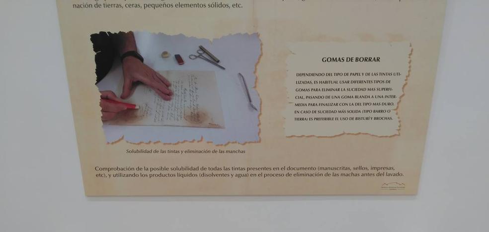 El espacio cultural 'Los arenales' acoge una exposición sobre la recuperación del patrimonio documental
