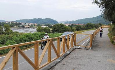 El Gromo gana en seguridad con la nueva senda peatonal