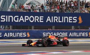 Verstappen, mejor tiempo en los primeros libres; Carlos Sainz séptimo