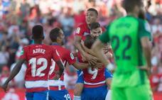 Un gol de Antonio Puertas mantiene al Granada arriba y hunde al Leganés
