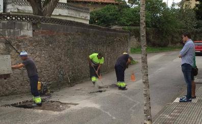 Acometidas diversas obras de mejora en el asfaltado de las calles de Guarnizo