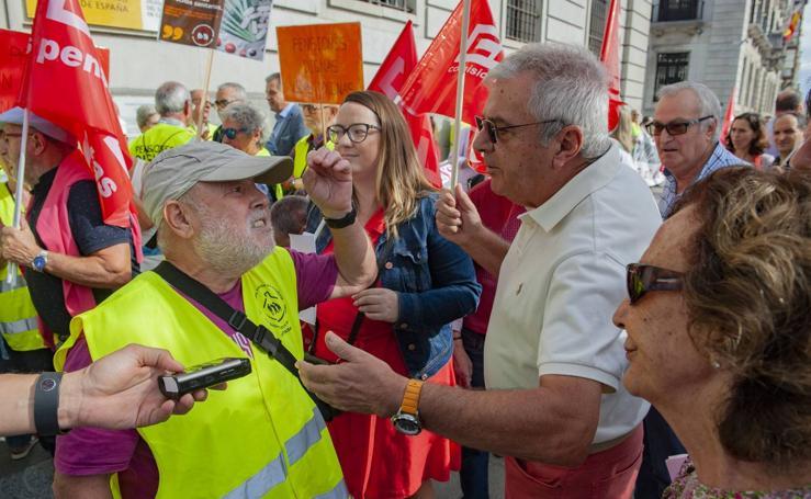 Concentración de jubilados y pensionistas en Santander
